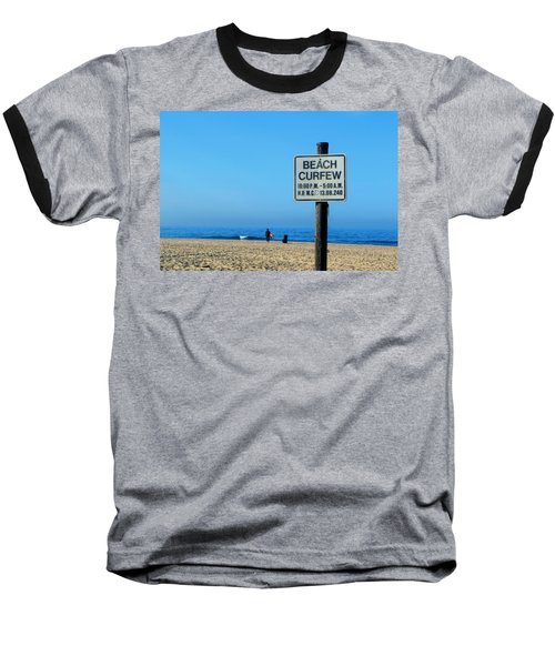 Beach Curfew Baseball T-Shirt