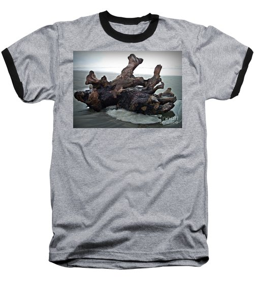 Beach Driftwood In Color Baseball T-Shirt by Chalet Roome-Rigdon