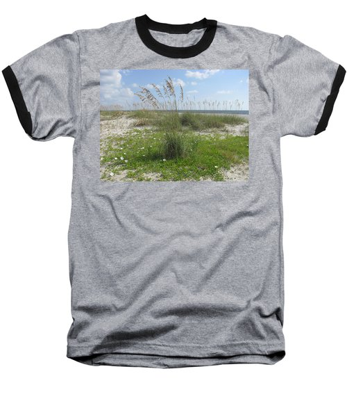 Beach Flowers And Oats 2 Baseball T-Shirt