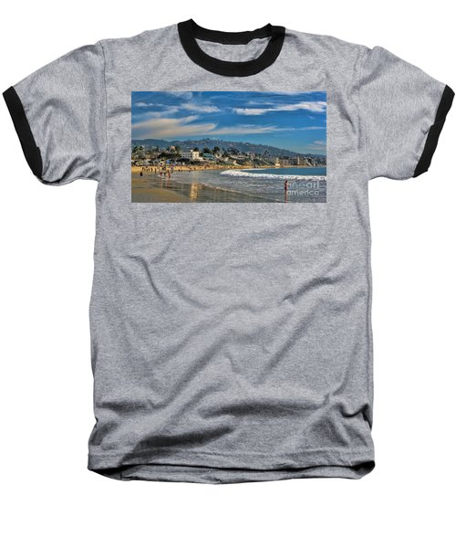 Baseball T-Shirt featuring the photograph Beach Fun by Tammy Espino