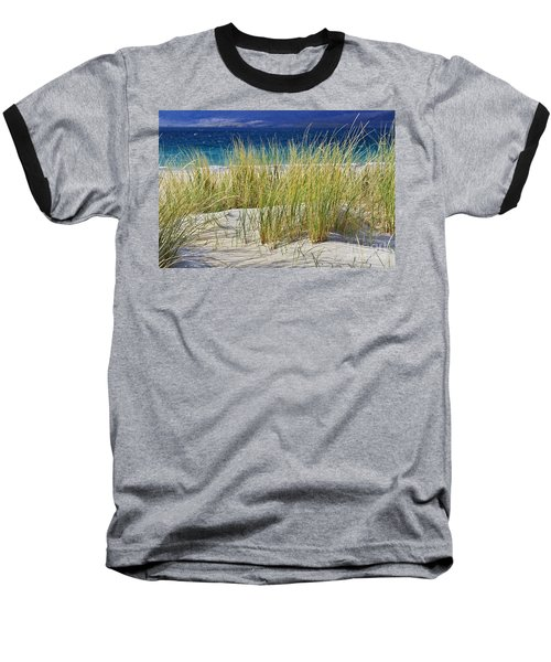 Beach Gras Baseball T-Shirt by Juergen Klust