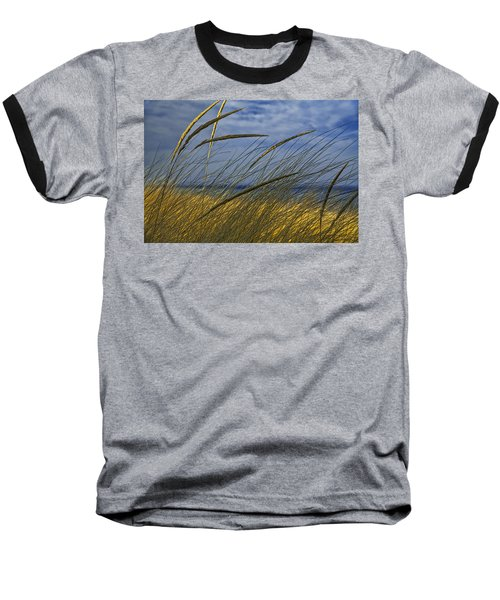 Beach Grass On A Sand Dune At Glen Arbor Michigan Baseball T-Shirt