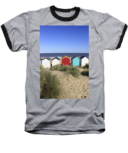 Southwold Beach Huts Uk Baseball T-Shirt