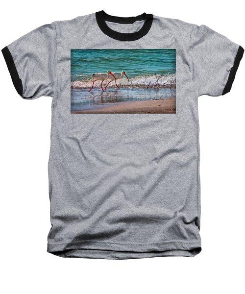 Beach Jogging In Twos Baseball T-Shirt