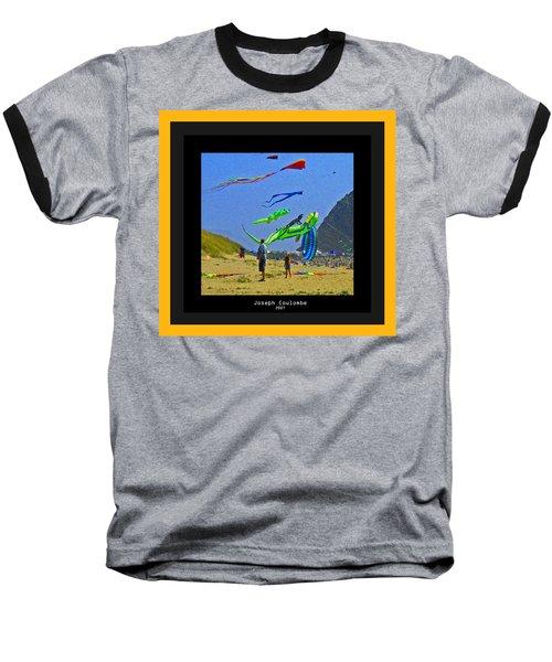Beach Kids 4 Kites Baseball T-Shirt