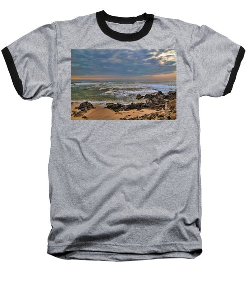 Beach Landscape Baseball T-Shirt
