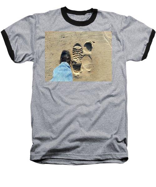 Beach Of Big Feet Baseball T-Shirt