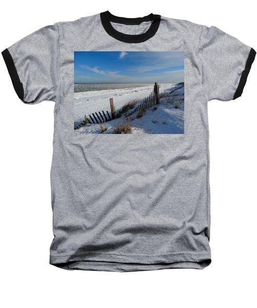 Beach On A Winter Morning Baseball T-Shirt