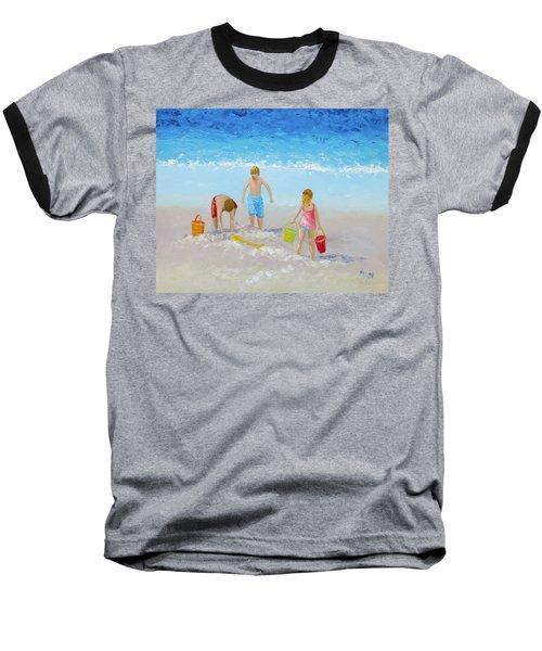 Beach Painting - Sandcastles Baseball T-Shirt