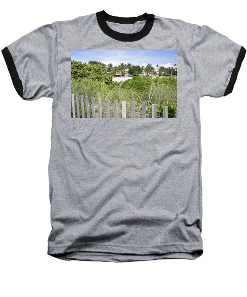 Baseball T-Shirt featuring the photograph Beach Path by Laurie Perry