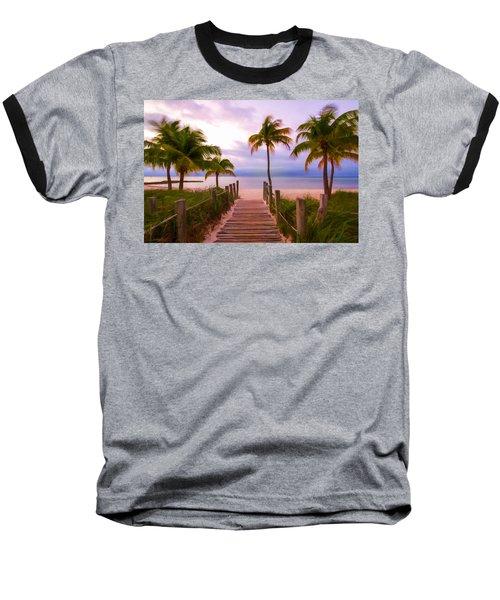 Beach Path Baseball T-Shirt