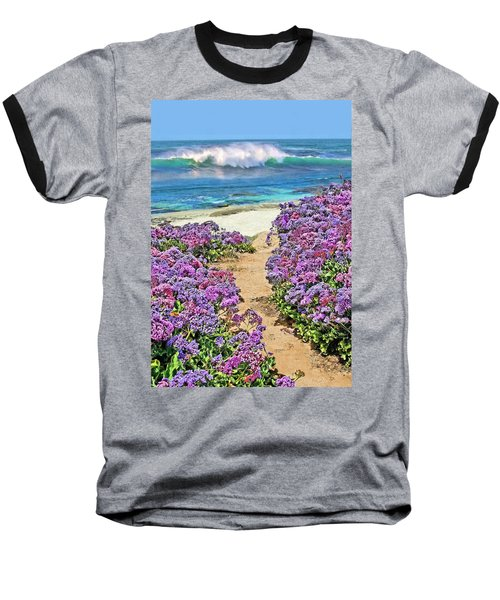 Beach Pathway Baseball T-Shirt