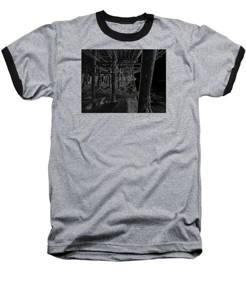 Beach Pier  Underworld  Baseball T-Shirt