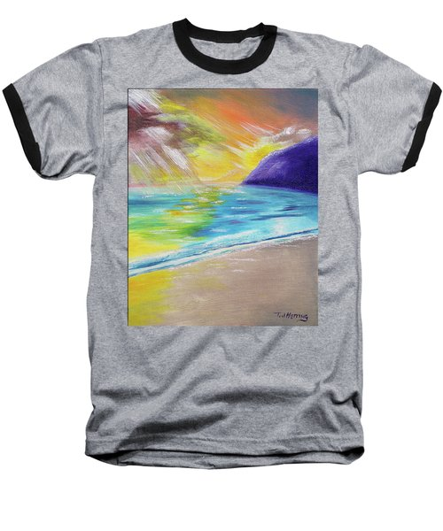 Baseball T-Shirt featuring the painting Beach Reflection by Thomas J Herring