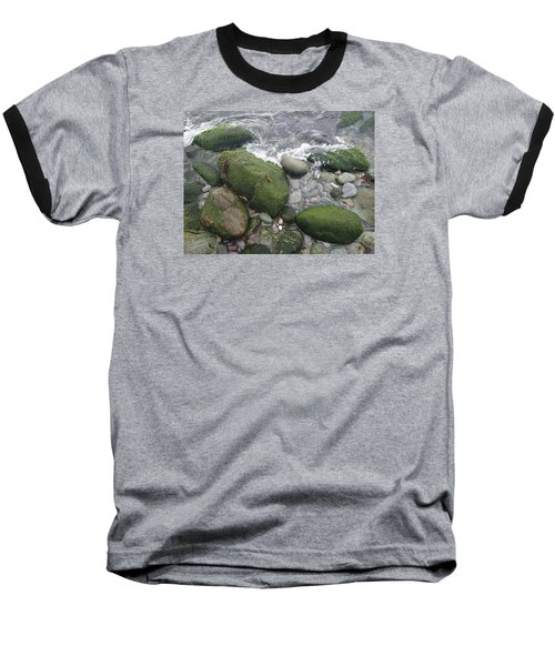 Baseball T-Shirt featuring the photograph Beach Rocks by Robert Nickologianis