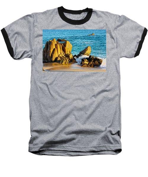 Beach Rocks Baseball T-Shirt