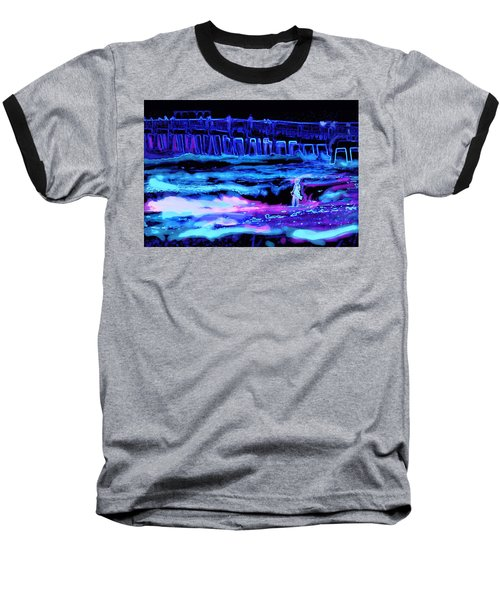 Beach Scene At Night Baseball T-Shirt