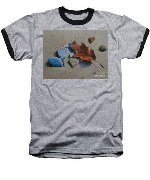 Baseball T-Shirt featuring the painting Beach Still Life II by Pamela Clements