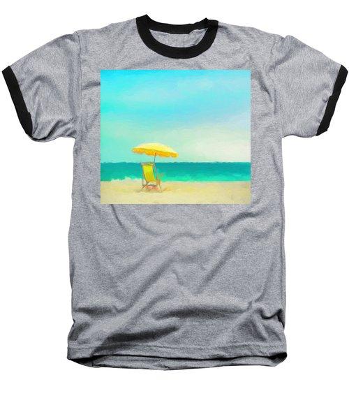 Baseball T-Shirt featuring the painting Got Beach? by Douglas MooreZart