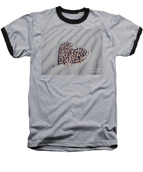 Beach Treasure Baseball T-Shirt by Jola Martysz