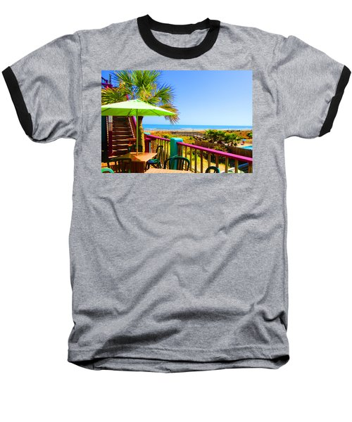 Beach View Of The Ocean By Jan Marvin Studios Baseball T-Shirt