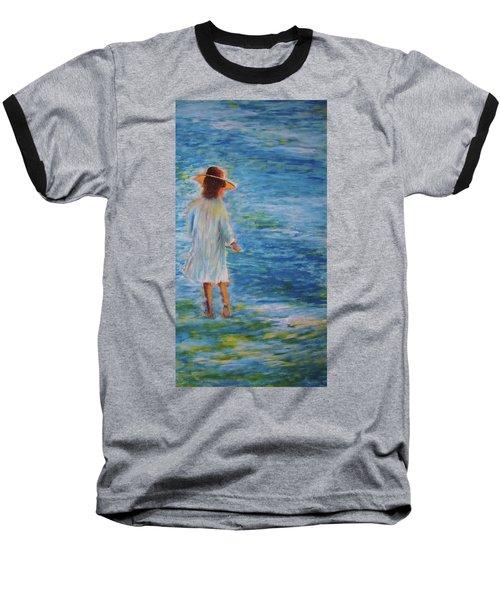 Beach Walker Baseball T-Shirt