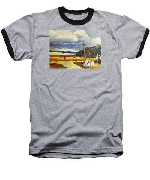 Beached Boat And Fishing Boat At Gippsland Lake Baseball T-Shirt by Pamela  Meredith