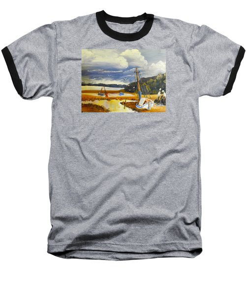 Beached Boat And Fishing Boat At Gippsland Lake Baseball T-Shirt
