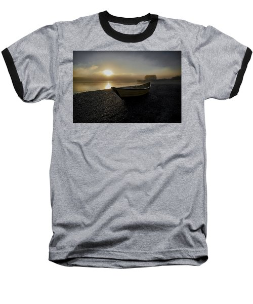 Beached Dory In Lifting Fog  Baseball T-Shirt