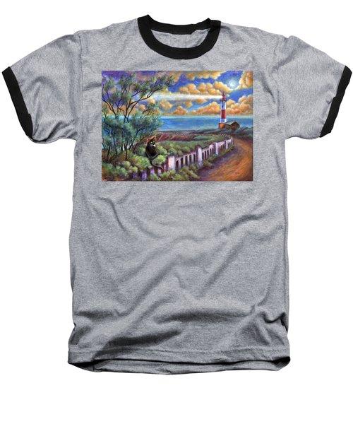 Beacons In The Moonlight Baseball T-Shirt