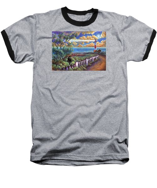 Beacons In The Moonlight Baseball T-Shirt