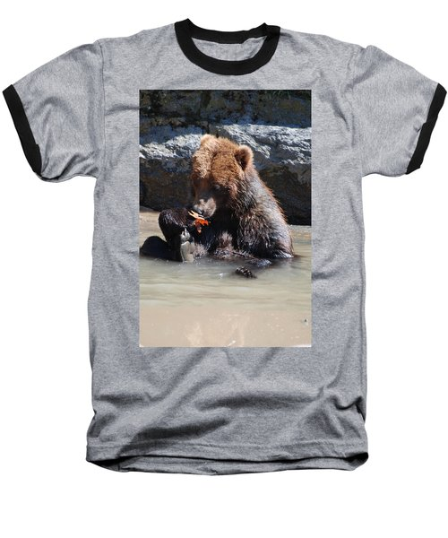 Bear Cub Baseball T-Shirt by DejaVu Designs