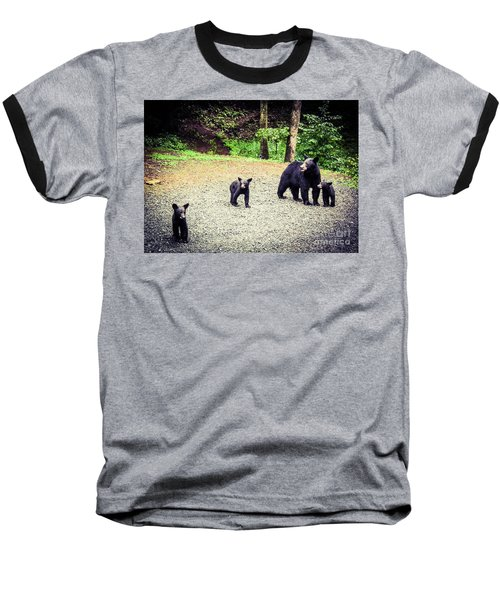 Bear Family Affair Baseball T-Shirt