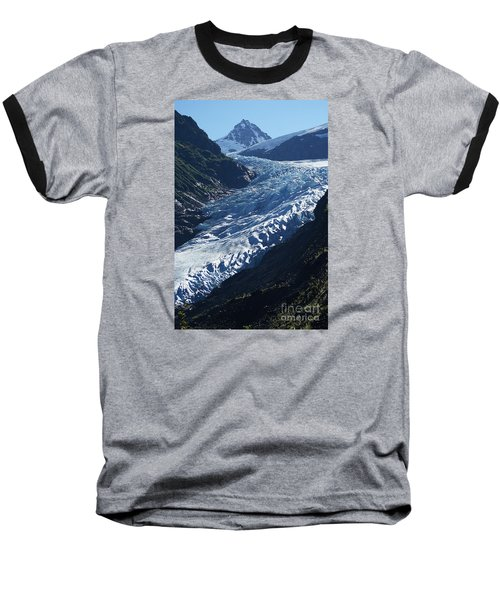 Baseball T-Shirt featuring the photograph Bear Glacier by Stanza Widen