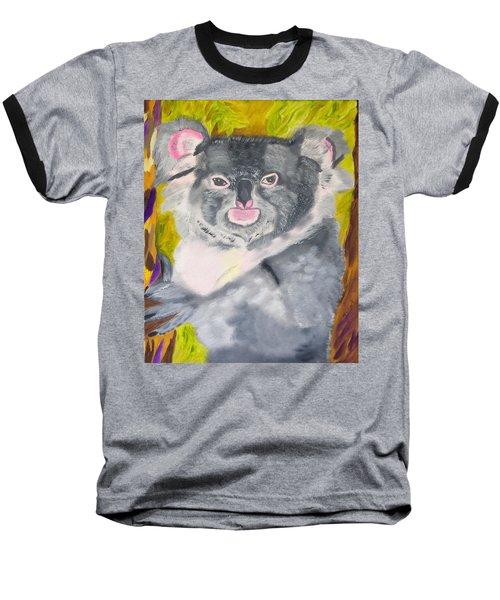 Koala Hug Baseball T-Shirt by Meryl Goudey