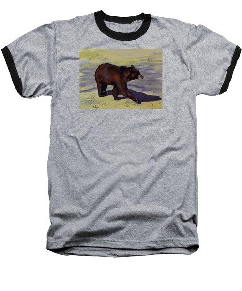 Bear Shadows Baseball T-Shirt by Pattie Wall