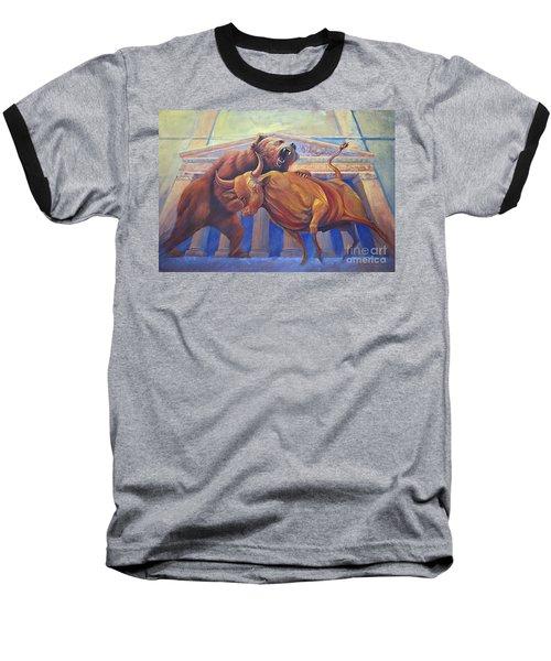 Bear Vs Bull Baseball T-Shirt