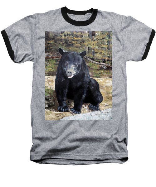 Bear - Wildlife Art - Ursus Americanus Baseball T-Shirt