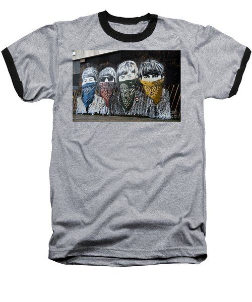 Beatles Street Mural Baseball T-Shirt