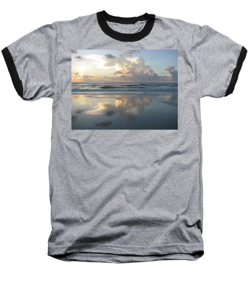 Beautiful Beach Sunrise Baseball T-Shirt