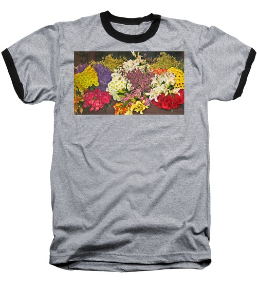 Baseball T-Shirt featuring the photograph Beautiful Blooms by Judith Morris