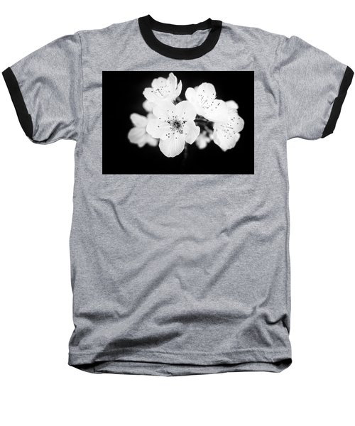 Beautiful Blossoms In Black And White Baseball T-Shirt