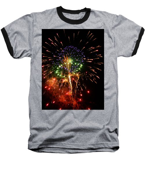 Beautiful Fireworks Works Baseball T-Shirt by Kim Pate