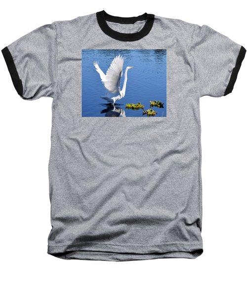 Beautiful Grest White Egret Baseball T-Shirt