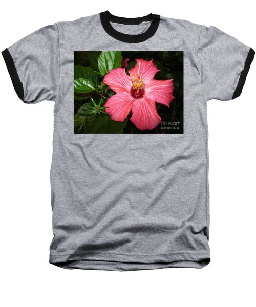 Baseball T-Shirt featuring the digital art Beautiful Hibiscus by Oksana Semenchenko
