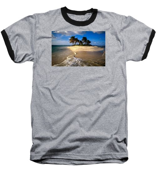 Baseball T-Shirt featuring the painting Beautiful Island by Bruce Nutting