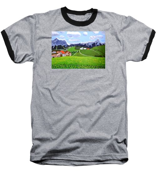 Baseball T-Shirt featuring the painting Beautiful Norway by Magdalena Frohnsdorff