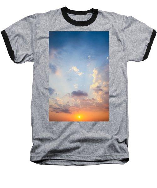 Beautiful Orange Sunset Baseball T-Shirt
