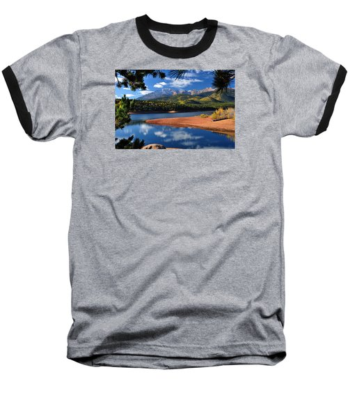 Beautiful Pikes Peak At Crystal  Baseball T-Shirt