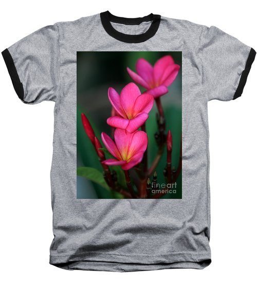 Beautiful Red Plumeria Baseball T-Shirt